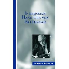 In memoriam Hans Urs von Balthasar
